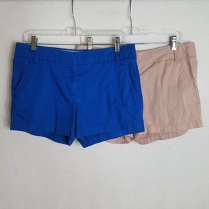 Lot of 2 J. Crew Women's Chino Shorts Size 8